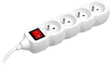 Tracer 44616 PowerCord 4 Outlets White 3m