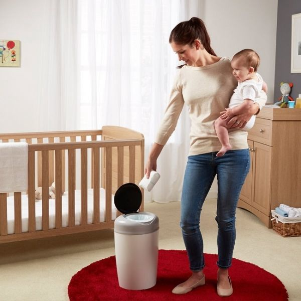 Tommee Tippee Simplee Sangenic Nappy Diaposal Bin Grey