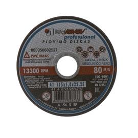Pjovimo diskas, 115 x 1 x 22.23 mm
