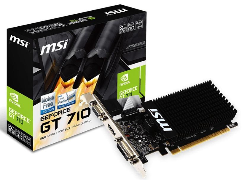 MSI GeForce GT710 2GB DDR3 PCIE Heatsink GT 710 2GD3H LP