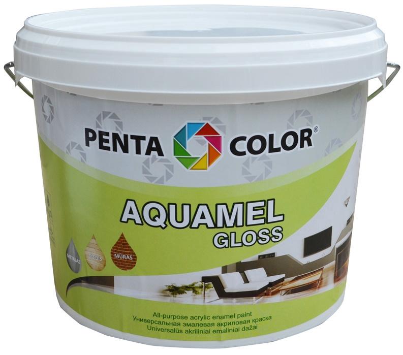 Krāsa Pentacolor Aquamel, 3kg, spīdīga brūna