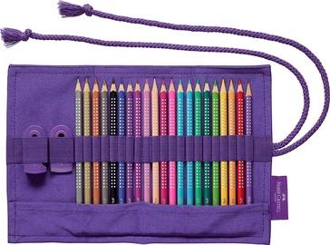 Цветные карандаши Faber Castell Sparkle Colour Pencil Roll, 22 шт.