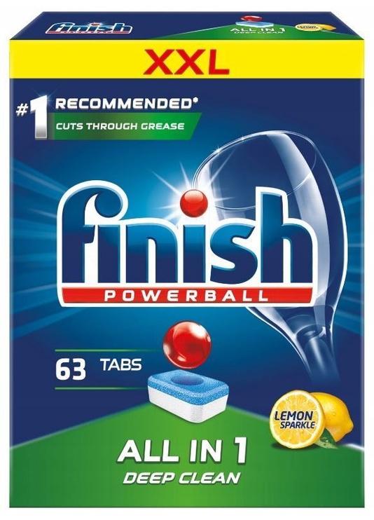 Trauku mazgājamās mašīnas kapsulas Finish All In 1 Box Lemon, 63 gab.