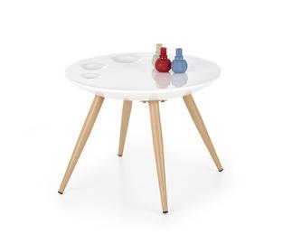 Kavos staliukas Marita baltas, 60 x 60 x 45 cm