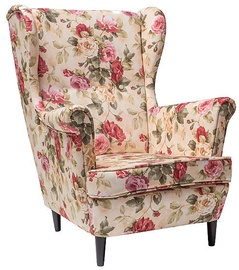 Signal Meble Lord Armchair Beige/Flowers