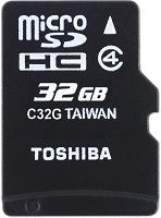 Toshiba M102 32GB microSDHC Class 4 + SD Adapter