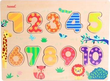 Skaičių žaidimas iWood Number Puzzle Wood Colorful
