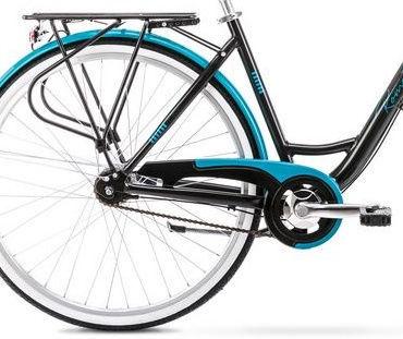 "Romet Art Deco 7 19"" 28"" Black Turquoise 20"