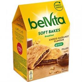 Minkšti sausainiai Belvita su lazdynų riešutų sk. įdaru, 250 g