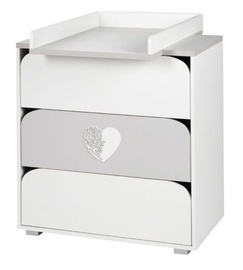 Klups Chest Of Drawers Nel Serce White/Grey