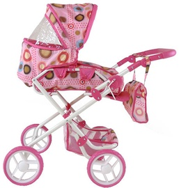 Milly Mally Paulina Doll Stroller Pink/Brown 0479
