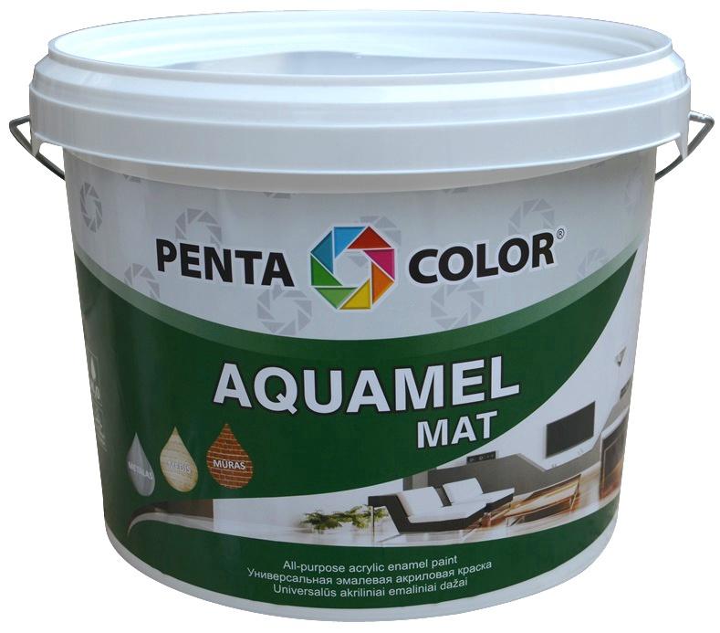 Dažai Pentacolor Aquamel, juodi, 3 kg