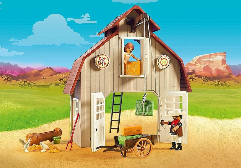 Playmobil Spirit Riding Free Barn With Lucky Pru & Abigail 70118
