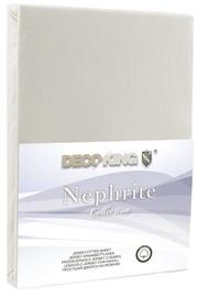 Palags DecoKing Nephrite, bēša, 220x200 cm, ar gumiju