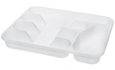 Plast Team Cutlery Tray With 5 Spaces 33.5x26.4x4.6cm White