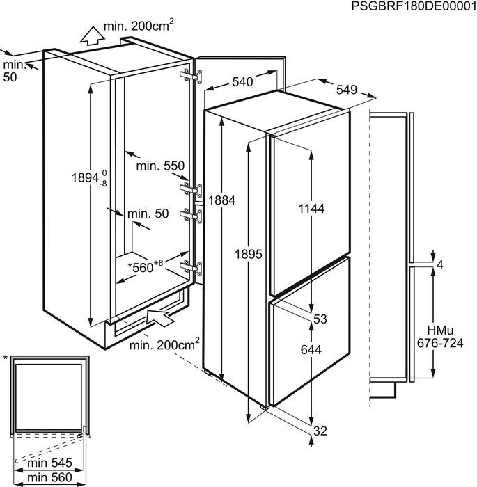 Iebūvējams ledusskapis Electrolux ENN3074EFW