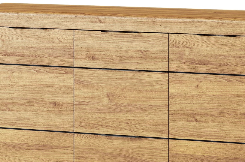 Szynaka Meble Kama 45 Chest Of Drawers Camargue Oak/Black Matt
