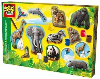 Gipsinių figūrų gaminimo rinkinys SES Creative Casting & Painting Animals 01132