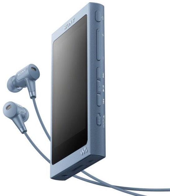 Музыкальный проигрыватель Sony NW-A45HN/L, синий, 16 ГБ