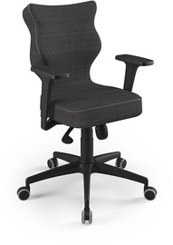 Entelo Perto Black Office Chair FC33 Dark Gray