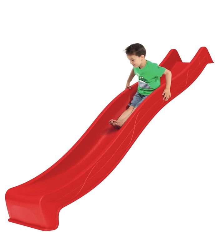 Lauko čiuožykla, raudona, 290 cm