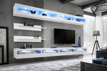 ASM Fly T5 Living Room Wall Unit Set White
