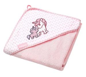 BabyOno Hooded Towel 76x76cm Pink
