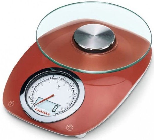 Soehnle Electronic Kitchen Scales Vintage Style Red