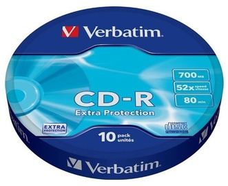 Verbatim CD-R 52X 700MB Wagon Wheel Extra Protection 10P Spindle