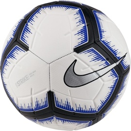 Nike Strike Soccer Ball White/Blue/Black Size 5