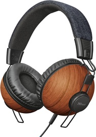Ausinės Trust Noma Trust Noma Over-Ear Headphones Denim Wood