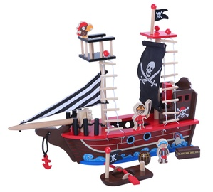 EcoToys Wooden Pirate Ship