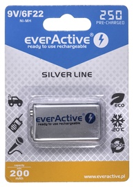 EverActive Silver Line Rechargeable Batteries 6F22 9V 250mAh