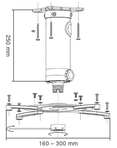 Reflecta Universal Ceiling Mount Superia 23058