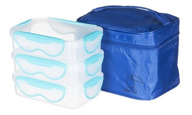 Tuckano Set Of Containers With Thermal Bag Rectangular 3pcs