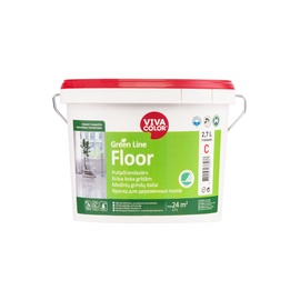 Dažai Vivacolor Green Line Floor A, balti, 2.7 l