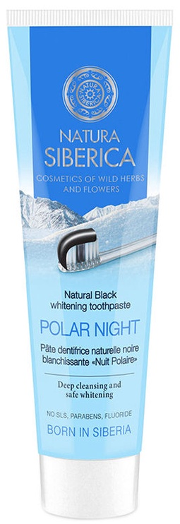 Dantų pasta Natura Siberica Natural Black Whitening 100g Polar Night