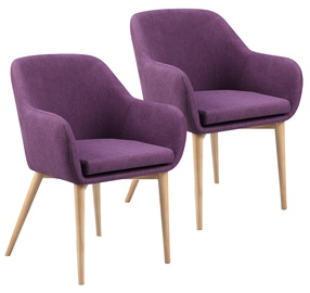 Home4you Chairs Monica Purple 2pcs 20225
