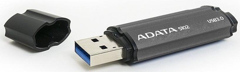 USB atmintinė ADATA S102 Pro Titanium Grey, USB 3.0, 64 GB