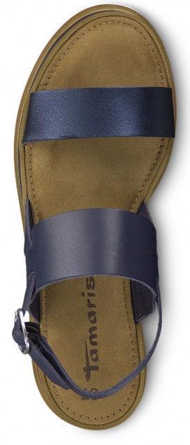 Basutės,  Tamaris Sandal 1-1-28226-22 Navy Metallic 38