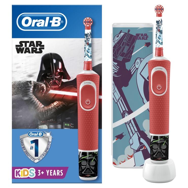 Электрическая зубная щетка Oral-B D100 StarWars, черный/красный