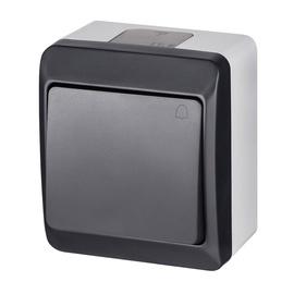 Mygtukas skambučiui Elektroplast, IP44, antracito spalvos