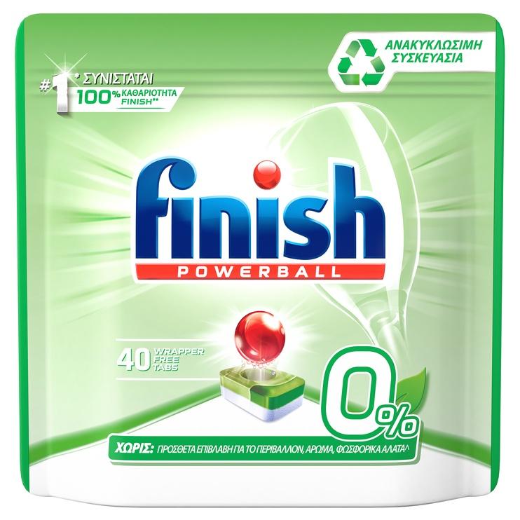 Капсулы для посудомоечной машины Finish Aio 0%, 40 шт.
