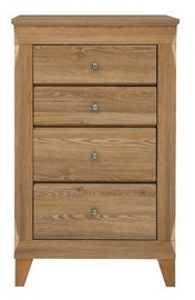 Black Red White Bergen Chest Of Drawers 47x72x116cm Golden Larch