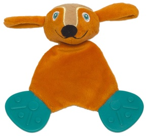 Oops Comforter Teething Toy Dog Orange