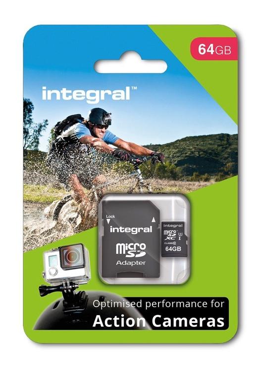 Integral 64GB micro SDHC/SDXC UHS-I Class 3 + SD Adapter