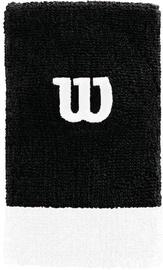 Wilson Extra Wide W Wristband Black/White