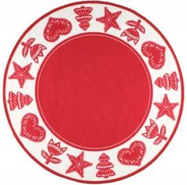 Ковер 4Living Nuutti Red/White, 100x100 см