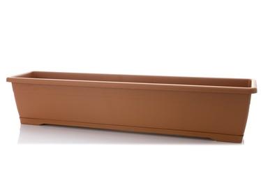 PlastiCotto Versilia Flower Pot With Plate 80cm Brown