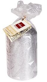 Eika Pillar Candle 12x7cm Silver